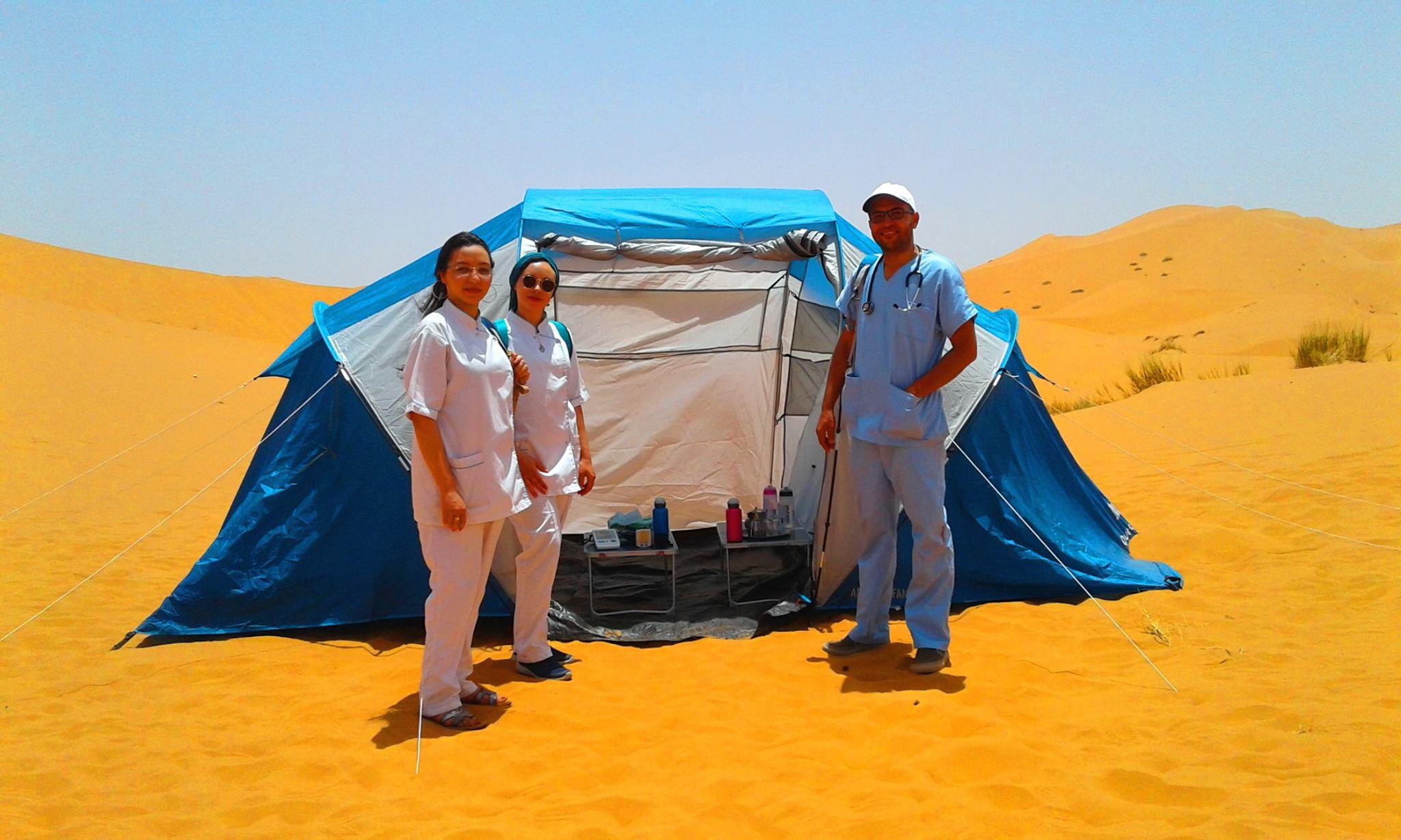 Merzouga Bain de sable - Equipe médicale